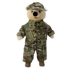 19'' Large US Army Teddy Bear in Camo Army Combat Uniform