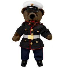 19'' Large US Marine Corps Teddy Bear in Dress Blues