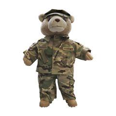 19'' Large US Air Force Teddy Bear in Camo Airman Battle Uniform