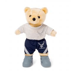 10'' Mini US Air Force Teddy Bear in PT Uniform