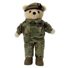 10'' Mini US Army Ranger Teddy Bear in Camo Army Combat Uniform