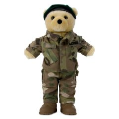 10'' Mini US Army Special Forces Teddy Bear in Camo Army Combat Uniform