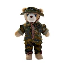 10'' Mini US Marine Corps  Female Teddy Bear in Woodland Camo