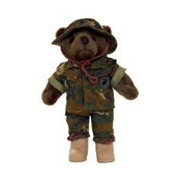 10'' Mini US Marine Corps  Male Teddy Bear in Woodland Camo