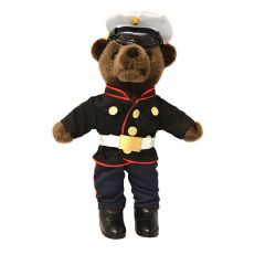 10'' Mini US Marine Corps Brown Teddy in Dress Blues