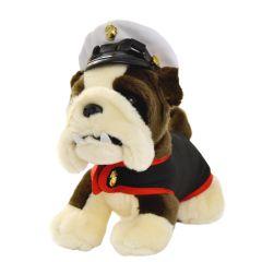 10'' US Marine Corps Plush Bulldog in Dress Blues