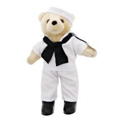 10'' Mini US Navy Beige Male Teddy Bear in Dress Whites