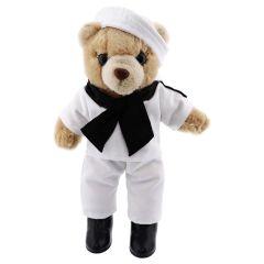 10'' Mini US Navy Brown Female Teddy Bear in Dress Whites