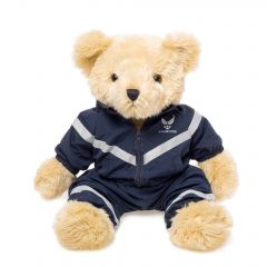 12'' Large US Air Force Teddy Bear in Jogging Suit