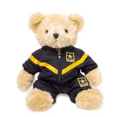 12'' Large US Army Teddy Bear in Jogging Suit