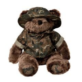 12'' Large US Marine Corps Teddy Bear in Woodland Camo