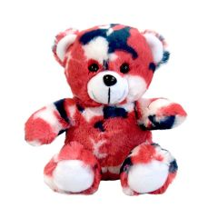 6'' Small Teddy Bear in Red White and Blue Camo