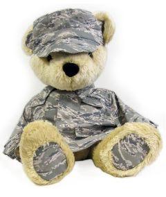 24'' Extra Large US Air Force Teddy Bear in Digital Tiger Stripe ABU Uniform